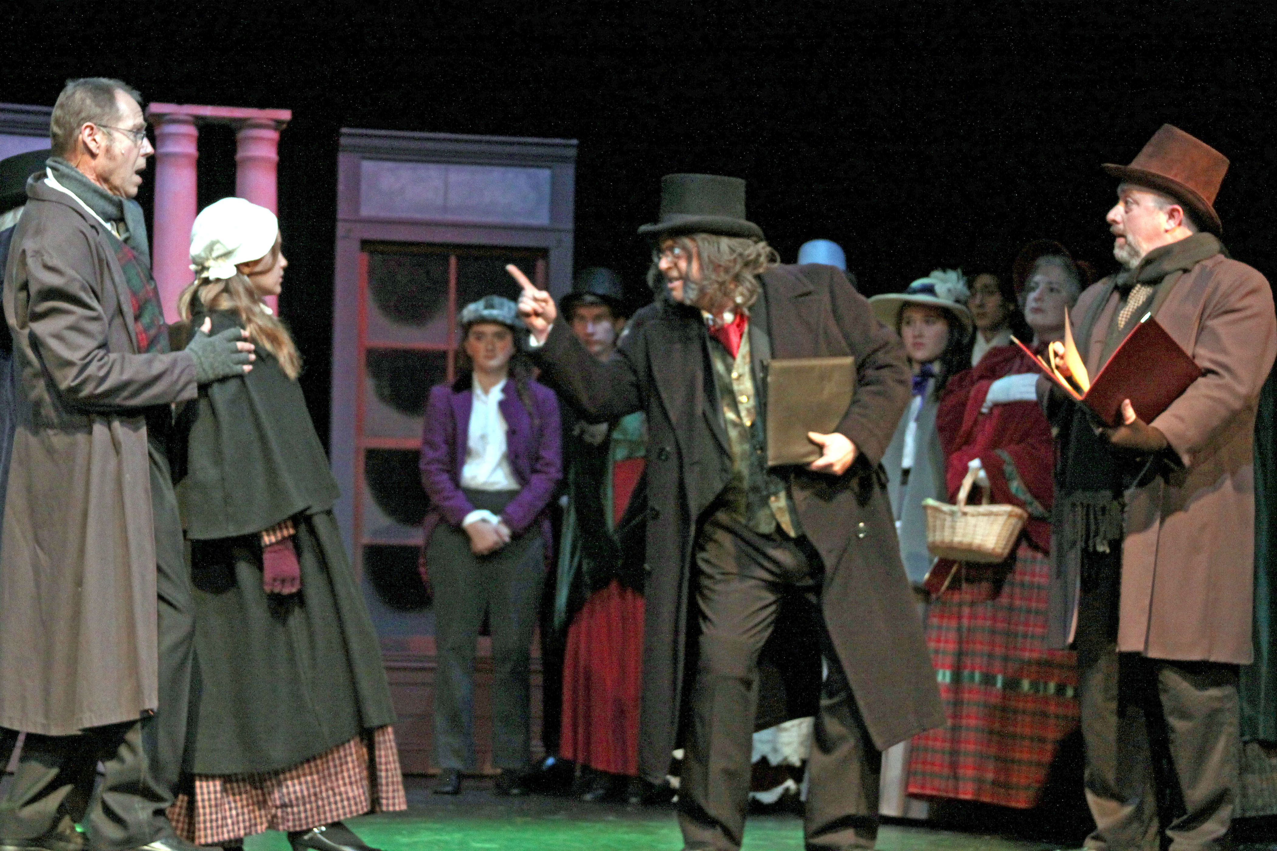 G Scrooge reprimandg debtor