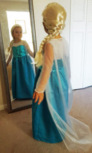 My granddaughter as Elsa from Frozen